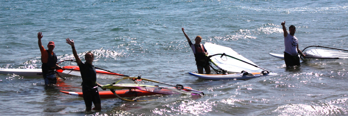 Funboard con SeaSurf Patrol windsurfing escuela en Cullera. Clic para ver las tarifas
