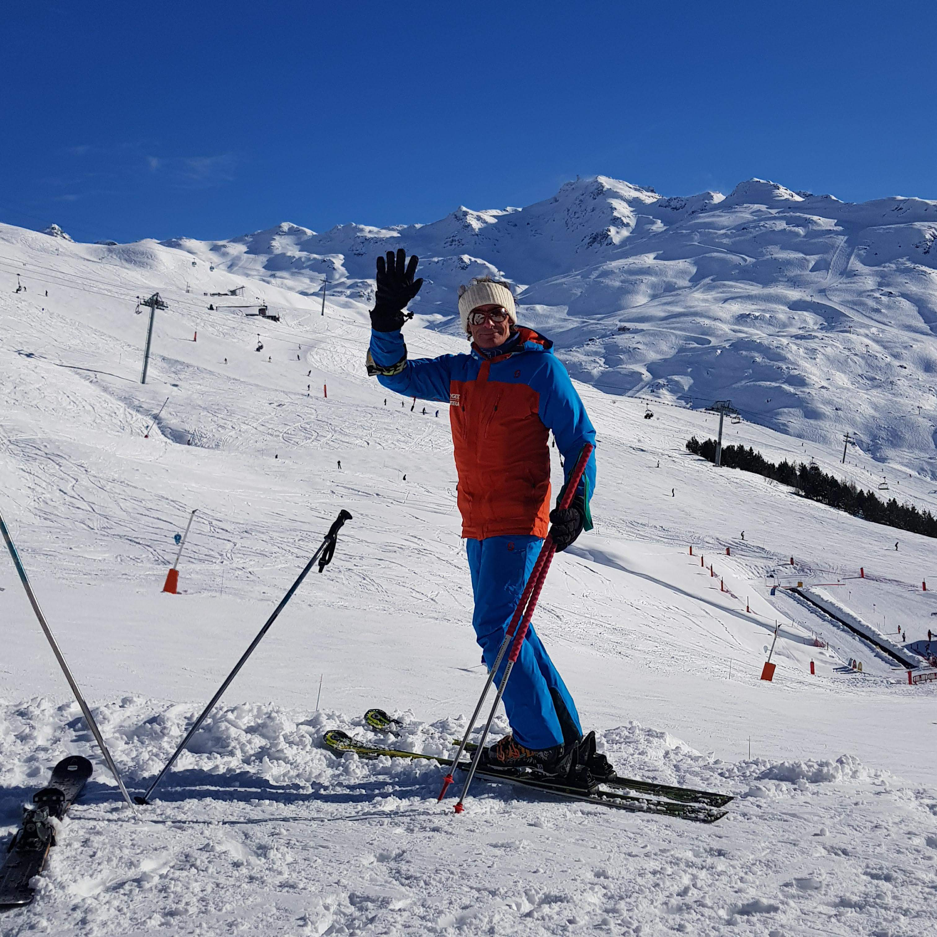 Christian Ski teacher with Oxygene Ski School